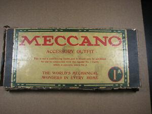 Meccano Accessory Outfit 1A - Child's Metal Construction Set Circa 1922