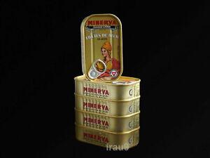 5 Cans Tuna Fish Filetts Minerva In Olive Oil 125g each Portugal