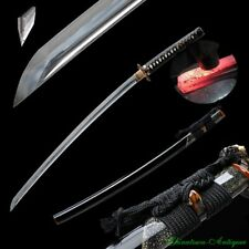 Katana Battle Sword Kobuse Jihada Forged Steel Blade w Clay Tempered Sharp #2306