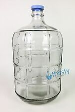 3 Gallon GLASS Water Bottle Carboy Canteen Jug Container Aqua H2O Jar Home Brew