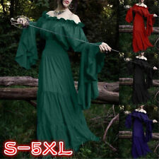 Halloween Cosplay Medieval Victorian Costumes Women Renaissance Vintage Dress