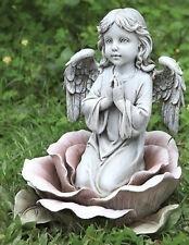 "11""H Praying Angel in the Rose Outdoor Garden Statue Joseph's Studio # 64555"