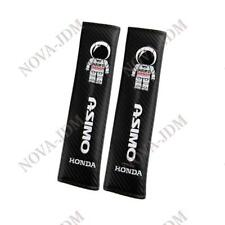 2X ASIMO Carbon Look Embroidery Seat Belt Cover Shoulder Pads for HONDA CIVIC