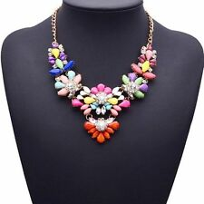 Flowers Plants Rhinestone Resin Costume Necklaces & Pendants