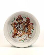 New listing Ceramic Dog Food Dish Bowl - Audrey Heffner Celebrations Silvestri Collectable
