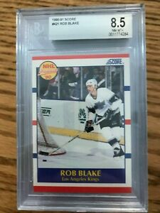 1990 -91 Score #421 Rob Blake RC Rookie BGS 8.5 NM-MT+!!