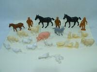 Lot de 24 Figurines La Roche aux Fées ANIMAUX de la FERME 70's Yahourt
