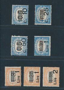 "SAN MARINO postage due 1936/43, ex Mi. 55-62 */MH, ""provisionals"", vf/vf!! Sasso"