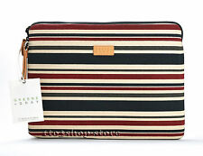 Greene Gray Canvas Sleeve Case Cover for MacBook Air 13 w Retina Stripe NEW