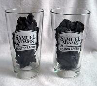 2 New Samuel Adams Boston Lager Brewing Co Beer Pint Glasses golf ball base