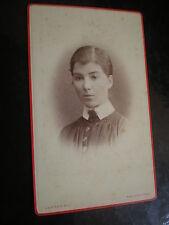 Cdv old photograph Woman Emily Billett by Clarke maidstone c1880s Ref 512(12)