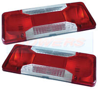 PAIR OF (2) IVECO DAILY TIPPER 2006 -> REAR TAIL LIGHT LAMP LENSES LH / RH