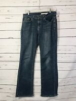 DKNY Womens Jeans Sz 8 Blue Straight Leg Med Wash Ladies Pants 5 Pocket