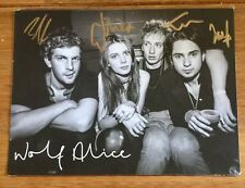 Wolf Alice Signed Promo Card not cd or vinyl