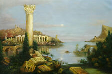 "Thomas_Cole Reproductions Oil Painting -  Course of Empire: Desolation - 36""x24"""