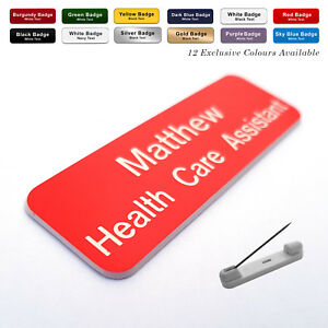 PIN Staff ID Name Badges / Tags Corporate Personalised Named Badges / ID Tag