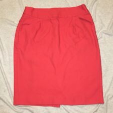 J. Crew The Pencil Skirt Coral Mini Size 4 Pink Zip Up Bottoms Pockets