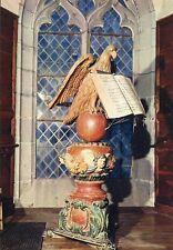 Alte Kunstpostkarte - Saint-Flour - Lutrin bois polychrome à la Cathédrale