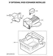 Brand new genuine GE WR30X28682 Refrigerator Ice Maker