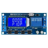 5V 12V 24V Relais Temporisé Minuterie de cycle Réglable Commutateur Module LCD
