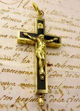 Antique Carmelite Nuns St. Teresa of Avila Reliquary Cross ex habitu RELIC-GIFT