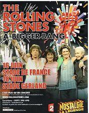 Publicité Advertising 2007 Concert The Rolling Stones A Bigger Bang