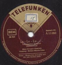 MAX Greger Sextett + canto Heinz-Mari CALOTTA: la-le-Lu (Heinz Rühmann titolo)
