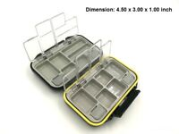 12 Compartment Fly Fishing Lures Hook Box Waterproof Fish Tackle Plastic Holder