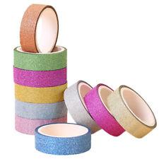 2 Rolls Glitter Washi Paper Adhesive Tape DIY Craft Sticker Masking Decor Random