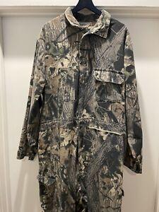 VTG RedHead Hunting Realtree Camouflage Bib Coveralls Mens XXL GUC