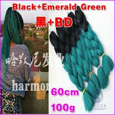 "24"" Jumbo Braid Hair 19colors 100gr Ombre Dip Kanekalon Hair Extensions"