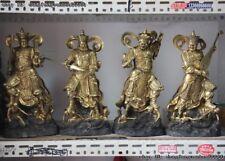 Chinese Buddhism Temple Bronze Myth Four Heavenly Kings God Buddha Statue Set