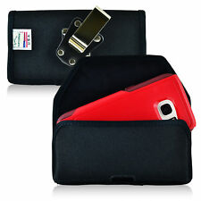 Turtleback Galaxy S7 Edge Nylon Pouch  Holster Case Metal Clip Fits Otterbox