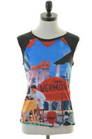 CUSTO BARCELONA Womens Vest Top Size 10 Small Multi Viscose Polyester