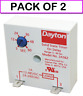 (PACK OF 2) DAYTON 2A562 Encapsulated Timer Relay, 1A, Solid State