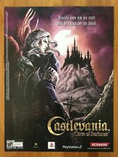 Castlevania: Curse of Darkness Playstation PS2 Xbox 2005 Poster Ad Art Print