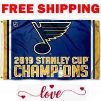 ST. LOUIS BLUES 2019 Stanley Cup Finals Champions Dorm Tailgate 3x5 Banner Flag