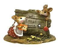Wee Forest Folk M-239 Scamper Retired 1998 Figurine W/Box Collectible
