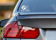 Baby On Board BMW German Euro Kids Funny Car Bumper Window Sticker Vinyl Decal