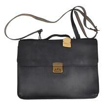 Ruitertassen Vintage Aktentasche Briefcase Leder Leather Schwarz Black Messenger
