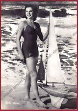 BEBE SHOPP 01 MODELLA MISS AMERICA 1948 - MODEL IN A BATHING SUIT Cartolina FOT