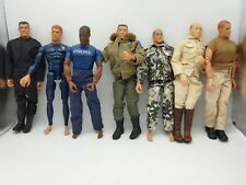 "Lot Of 7 Pawtucket GI JOE 12"" Action Figures 1996. Incl Asian & African American"