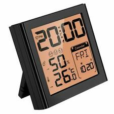 Mpow Travel Alarm Clock Calendar Temperature Humidity Snooze Backlight Hygromete