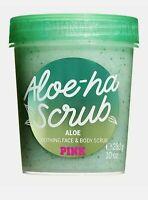 Victorias Secret PINK Aloe-ha Aloe Soothing Face & Body Scrub 10 Oz / 283 g
