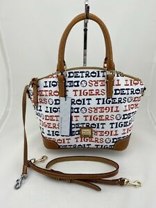 Dooney Bourke Detroit Tigers Charli Satchel Hand Bag White NWT - PRICED TO SELL!