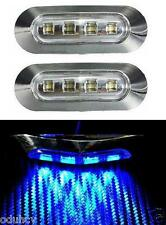 2x LED Laterali Luci per Bus Camion Furgone LKW Camper Rimorchio 12V Cromo