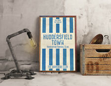 Huddersfield Town FC A3 Picture Art Poster Retro Vintage Style Print Typography