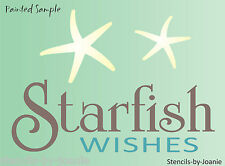 Beach STENCIL Starfish Wishes Tropical Ocean Lake House Bath Bed Art Craft Signs