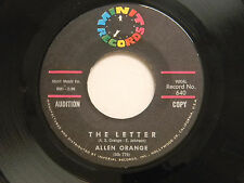 Allen Orange 45 THE LETTER / MISS NOSEY ~ Minit VG soul
