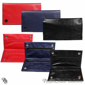 Tobacco Pouch Leno Bag With Blättchenspender, Rolling Tobacco, PU Leather